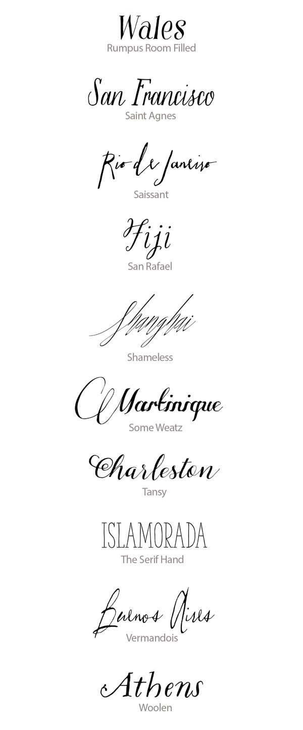 Best calligraphy fonts for weddings hand lettered