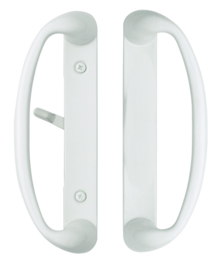 Rockwell Sonoma Sliding Patio Door Handle In White Finish