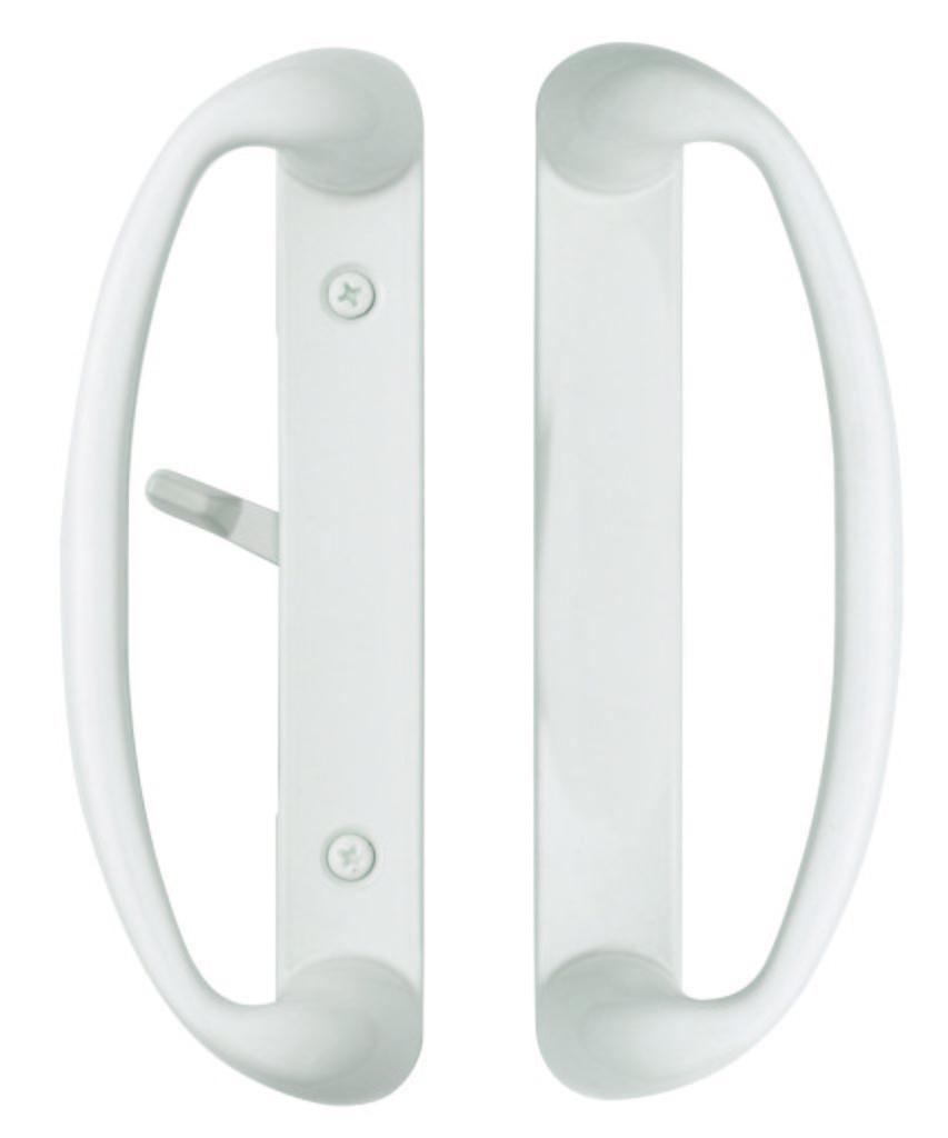 Sonoma Sliding Door Handle Set In White Sliding Door Handles