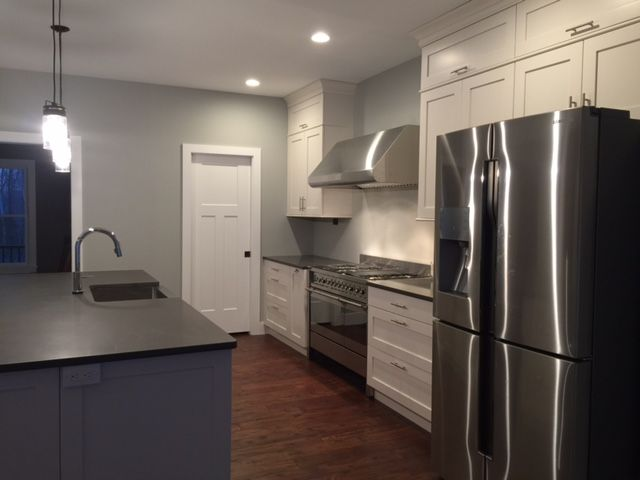 white shaker kitchen cabinets images pictures of style online recently complete shadow gray quartz