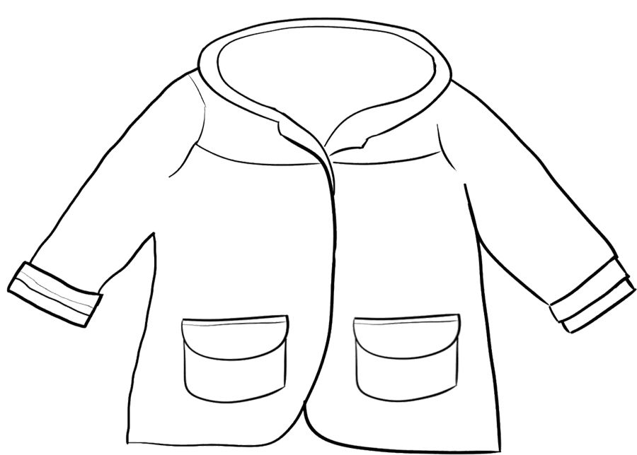 Winter Jacket Coloring Page | winter board decorations | Pinterest ...