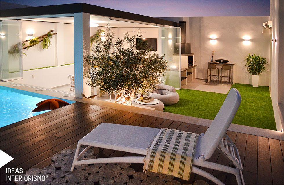 Terraza De Diseno En Albal Disenos De Unas Muebles De Exterior Casas Con Piscina