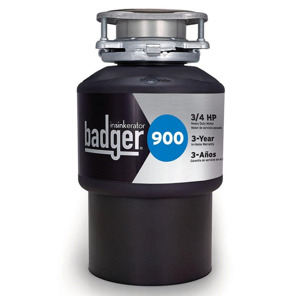 Insinkerator Badger 900 3 4 Hp Continuous Feed Garbage Disposal