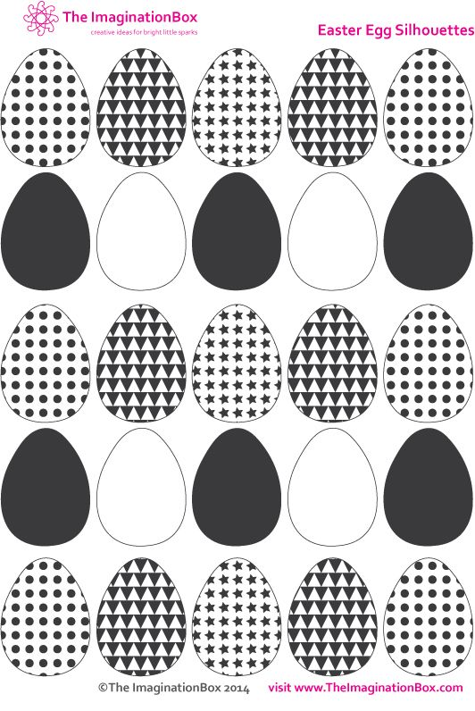 Mini Easter Egg Templates, free to download and print Great for