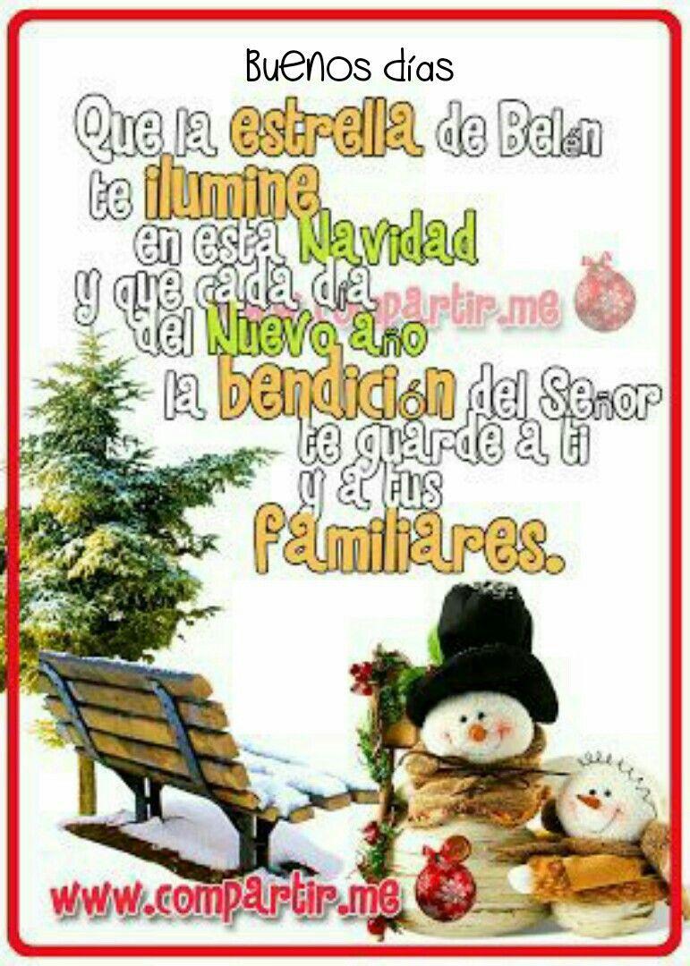 Que la estrella de Belén te ilumine en esta navidad y que cada da del Nuevo a±o la bendici³n del Se±or te guarde a ti y a tus familiares