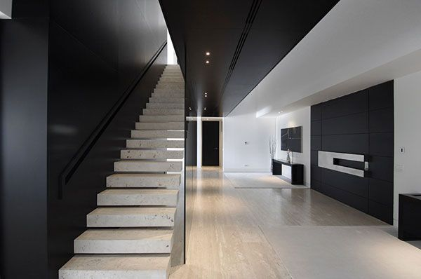 Black and white interior design stairs and steps! pinterest