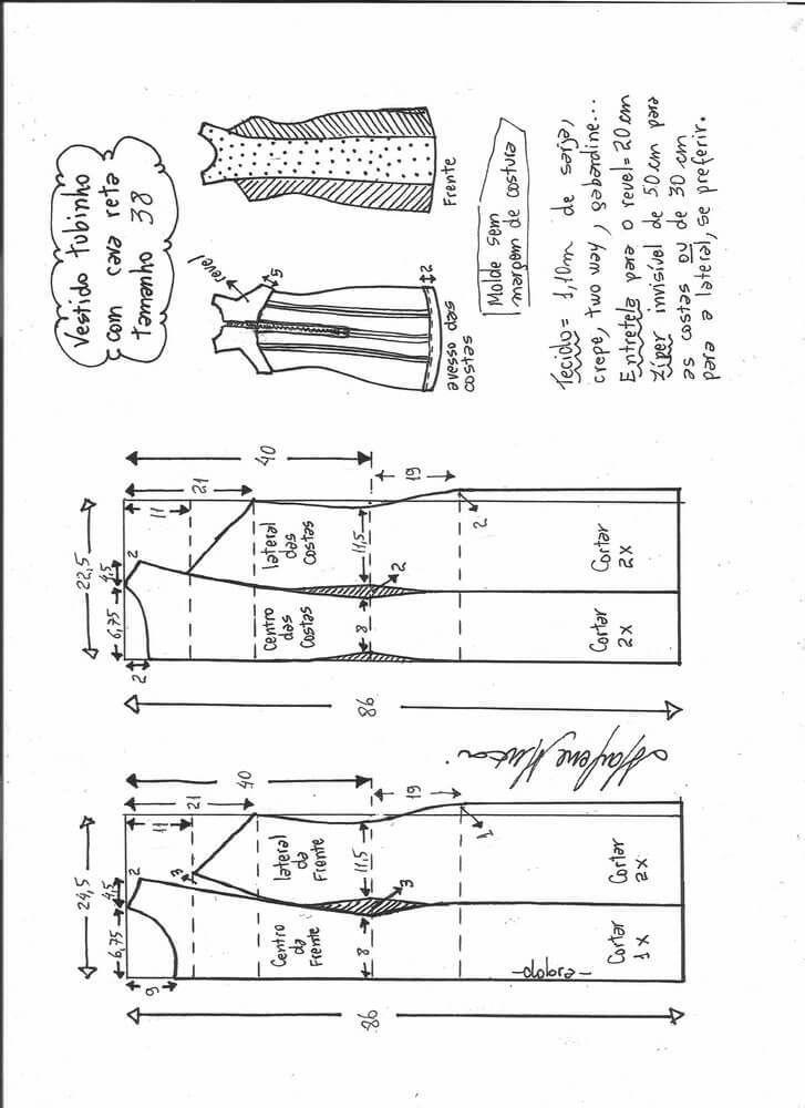 Pin de Ana de la Hera en Patrones | Costura, Vestidos y Patrones