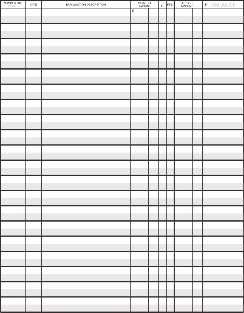 Printable Accounting Ledger Template Templates Printable Free Printable Check Register Template Printable Free printable general ledger template