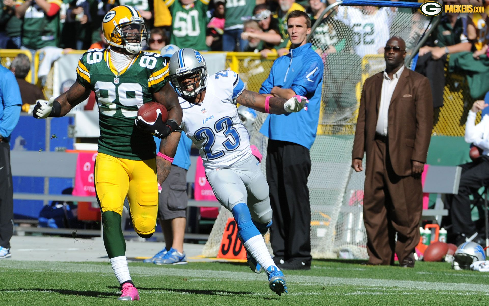 Vs Lions James Jones Packers Green Bay Packers