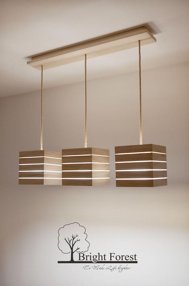 Holzlampe, Pendelleuchte, Deckenlampe, Lampe, Holz