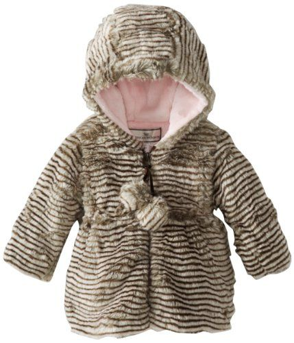 f8efee044 Widgeon Baby-Girls Infant Hooded Pom Pom Coat