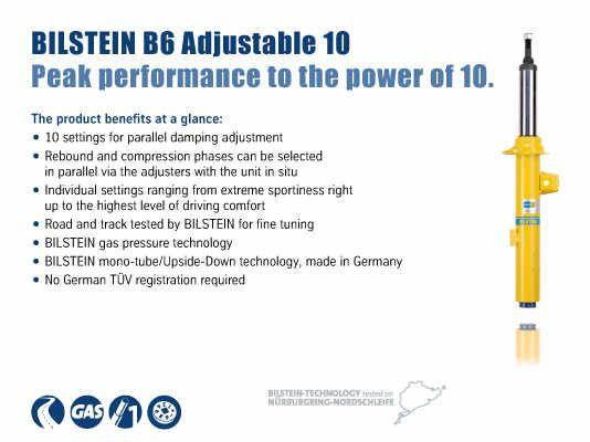 BILSTEIN B6 HD Left OR Right Front Strut Shock Absorber Damper for Volkswagen