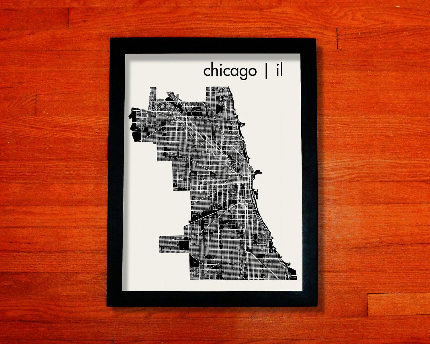 Seattle Map Funny%0A Chicago Map Art City Print     x             via Etsy