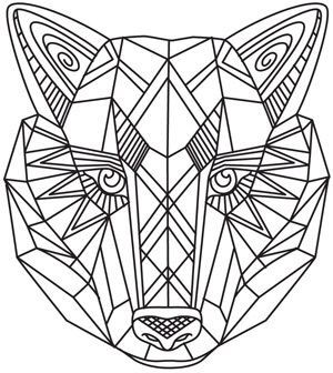 Tattoo Geometric Wolf Geometric Coloring Pages Animal Coloring Pages