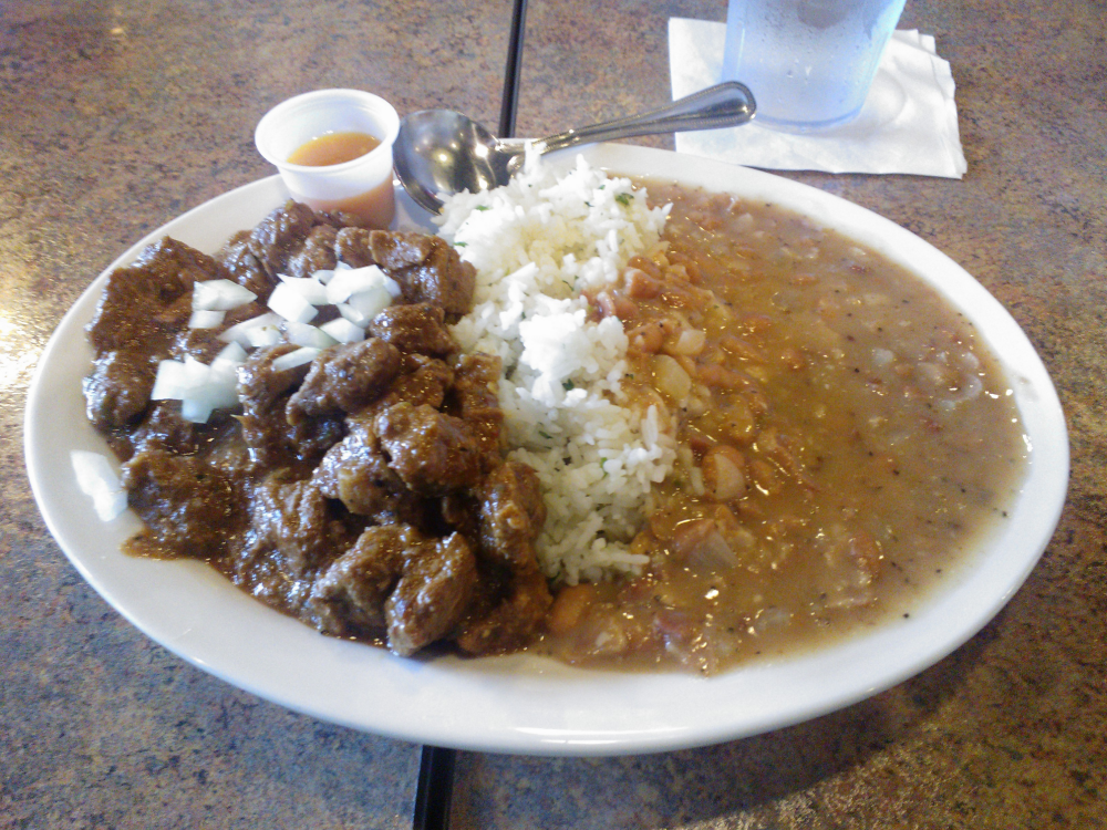 The Texas-sized Texas Chili plate at Anaheim Chili.  Tuesdays only.