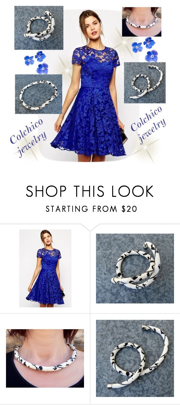 """""""Colchico jewelry"""" by alma-ja ❤ liked on Polyvore featuring WithChic"""