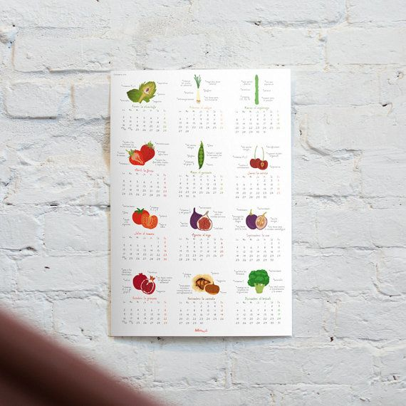 Calendar 2017 Printable Spanish Vegetable Calendar By Biterswit