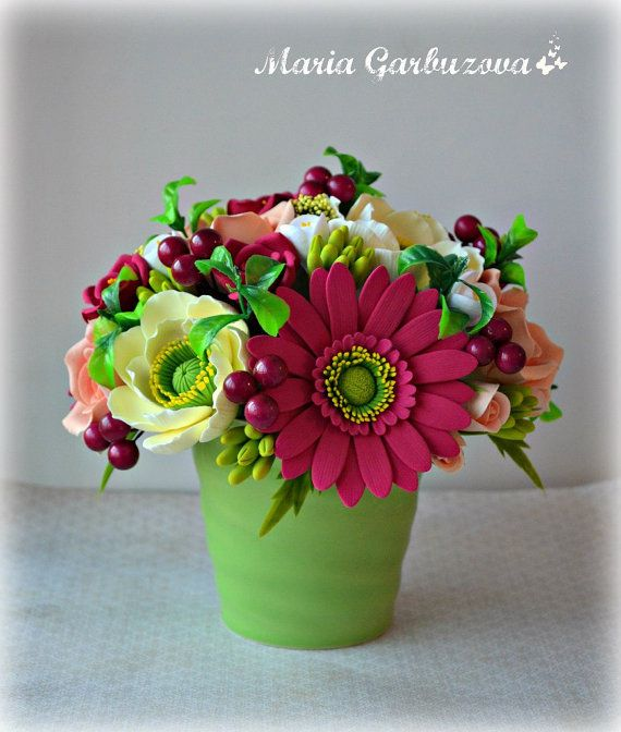 Flowers In The Pot Tiny Fl Arrangement Beautiful Home Decorations Small Flower Bouquet Birthday Gift