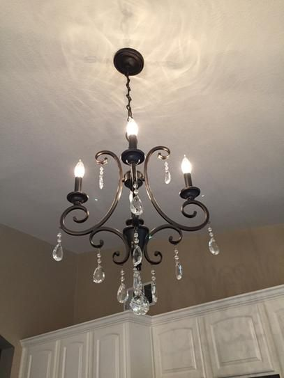 Hampton Bay 4 Light Oil Rubbed Bronze Crystal Small Chandelier Ihn9114a At The Home Depot Mobile