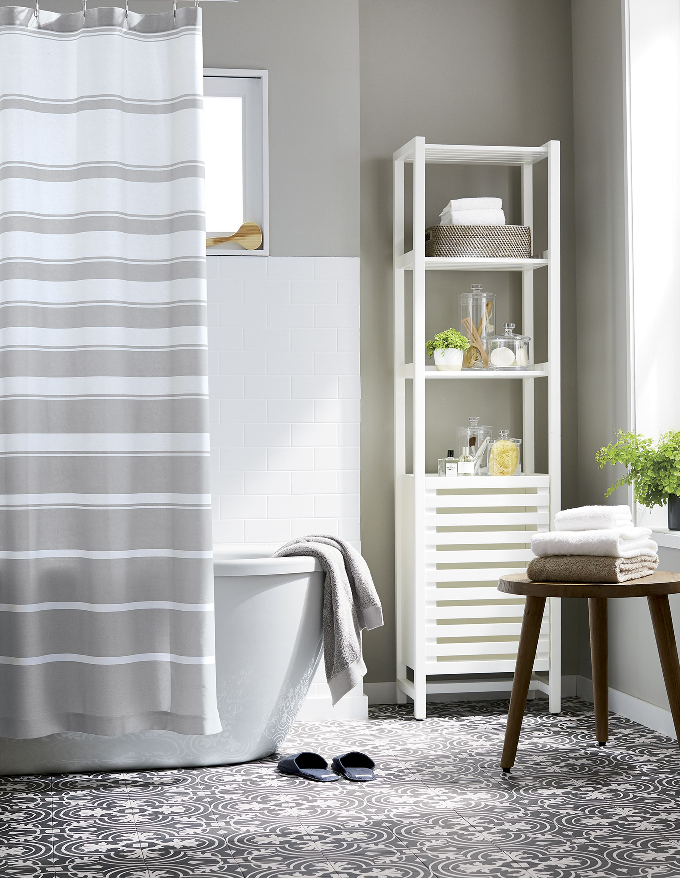 Banya White Bath Tower | Open shelves, Bath accessories and Tower
