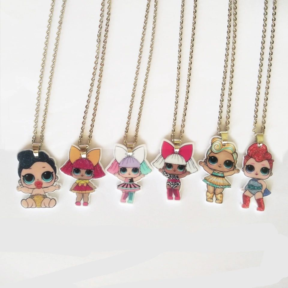 Pendant Necklaces Wholesale 30pc Gold Color Happy Girl Swing Pendants Necklaces Sweet Girls Valentines Day Gift Free Shipping