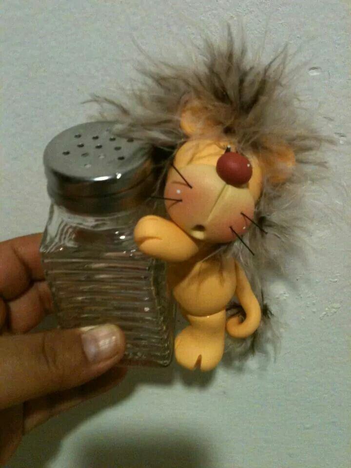 Salero con león | Peques | Pinterest