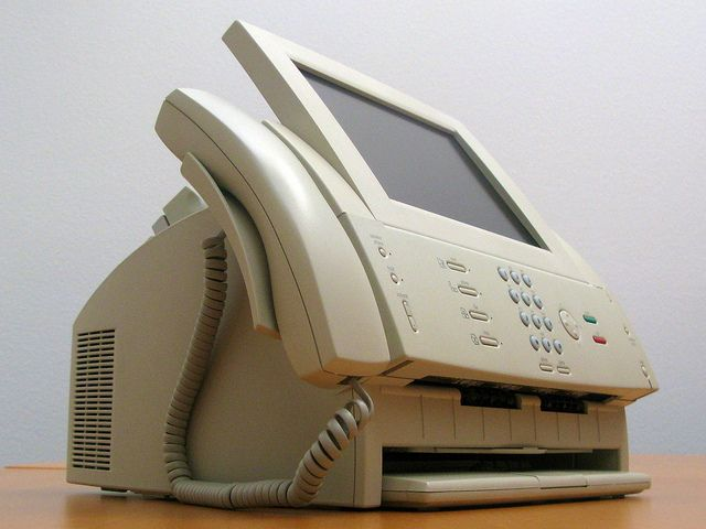 Apple Paladin Prototype - keyboard recessed  The Paladin was a conceptual combination of a computer, fax machine, scanner, and phone all-in-one designed by Apple Computer as a single office solution for a small business. It had a monochrome LCD screen and a phone handset attached to it. Very few were prototyped and they are a rare find.[1]  Substantial conceptual work was done by the product design firm IDEO.