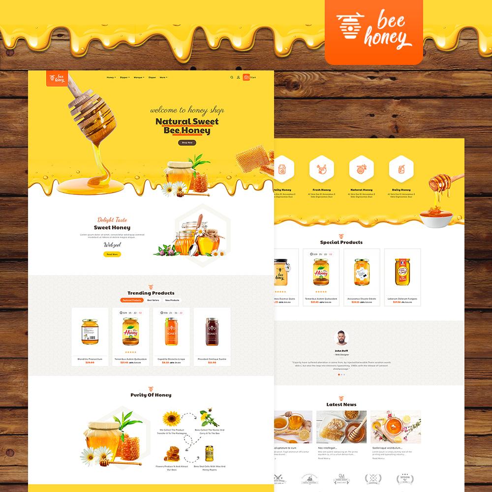 #Honey #Bee - #Agro Bee & #Sweet Shop - #Prestashop #Responsive Theme | #TemplateTrip #Website #Design #Templates
