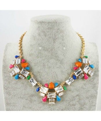 Elegant Glisten Crystal Flower Alloy Necklace Free Shipping