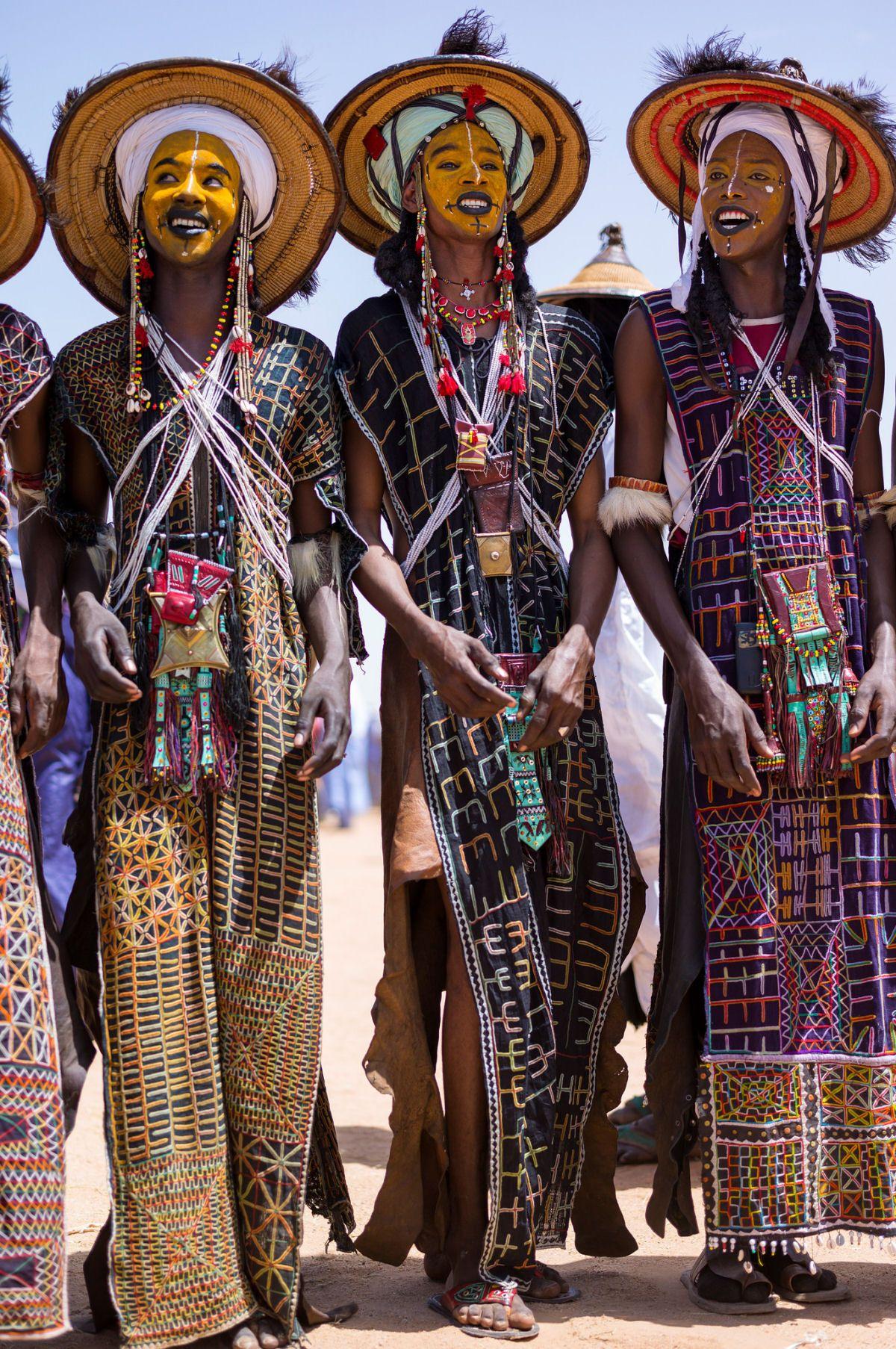 Wodaabe Tribe Men , Cameroon Nigeria Chad