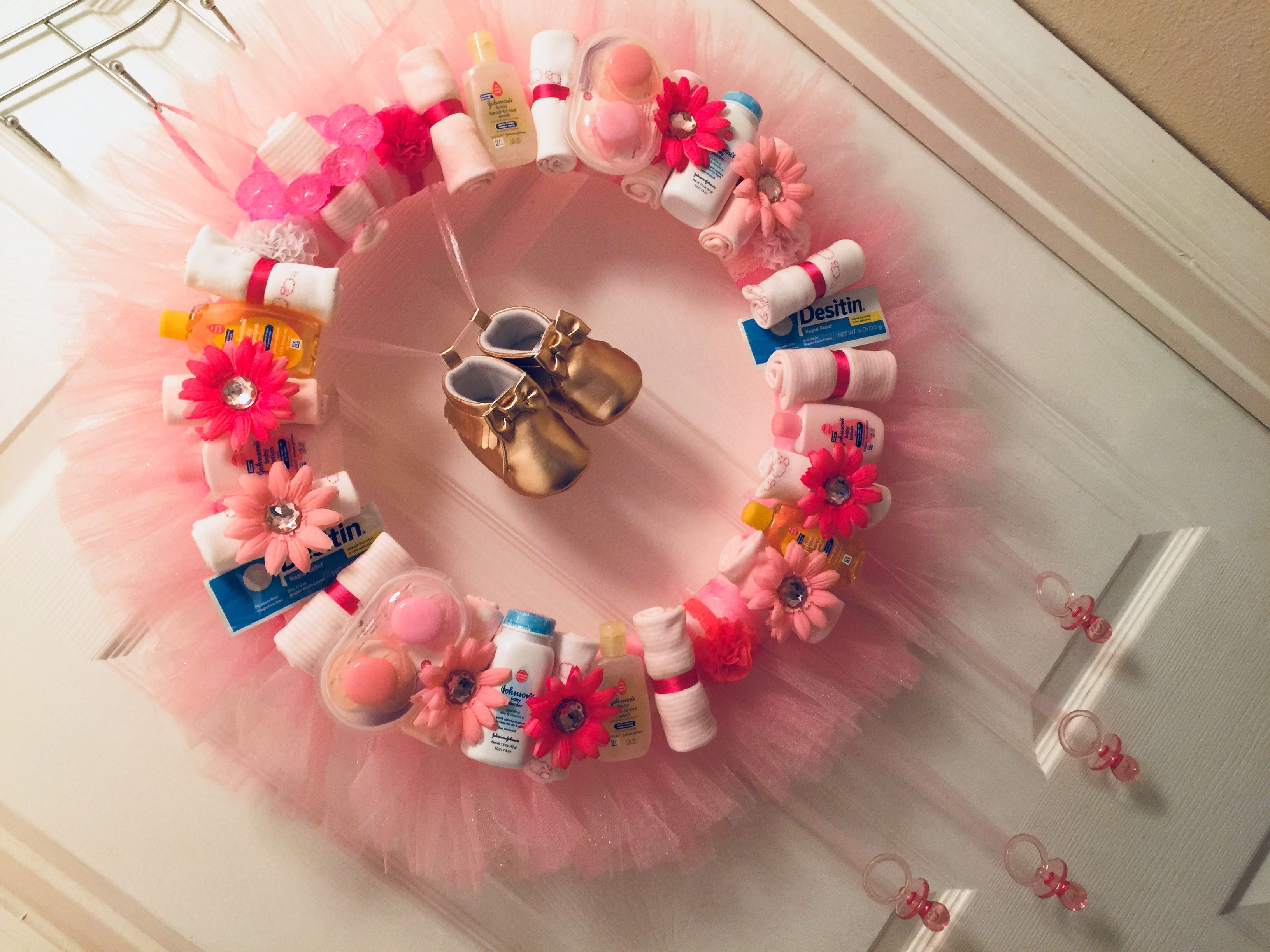 Baby Shower Wreath For A Baby Girl