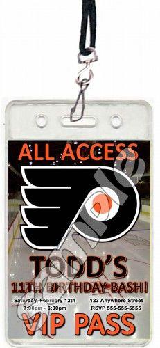Philadelphia Flyers Hockey Set of 12 VIP Party Invitation Passes or
