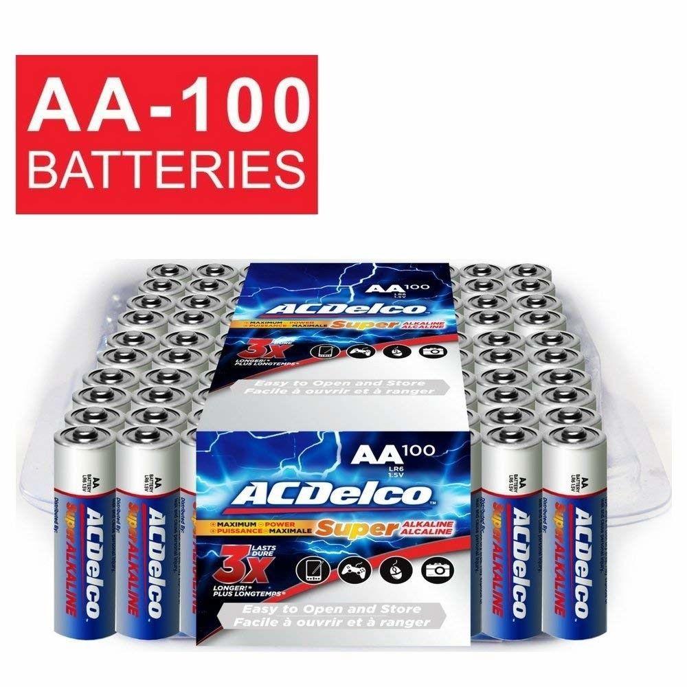 Acdelco Super Alkaline Aa Batteries 100 Count Usa Shipping Alkaline Battery Batteries Acdelco