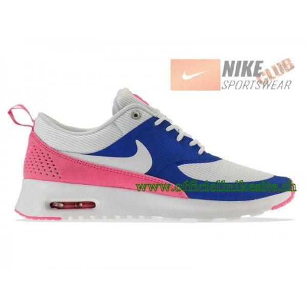 hot sale online 294ed 4fcb4 Nike Wmns Air Max Thea GS Chaussures de Running Pour Femme Blanc Rose Bleu