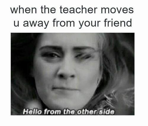 Image via We Heart It #Adele #class #friend #hello #life #otherside #love