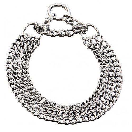 Details about Triple Choker Chain Dog Collar All breeds