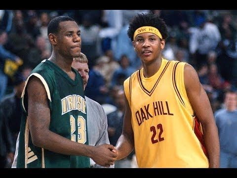 17 years old LeBron James vs. 17 years old Carmelo Anthony in 2002 ... f02557c04