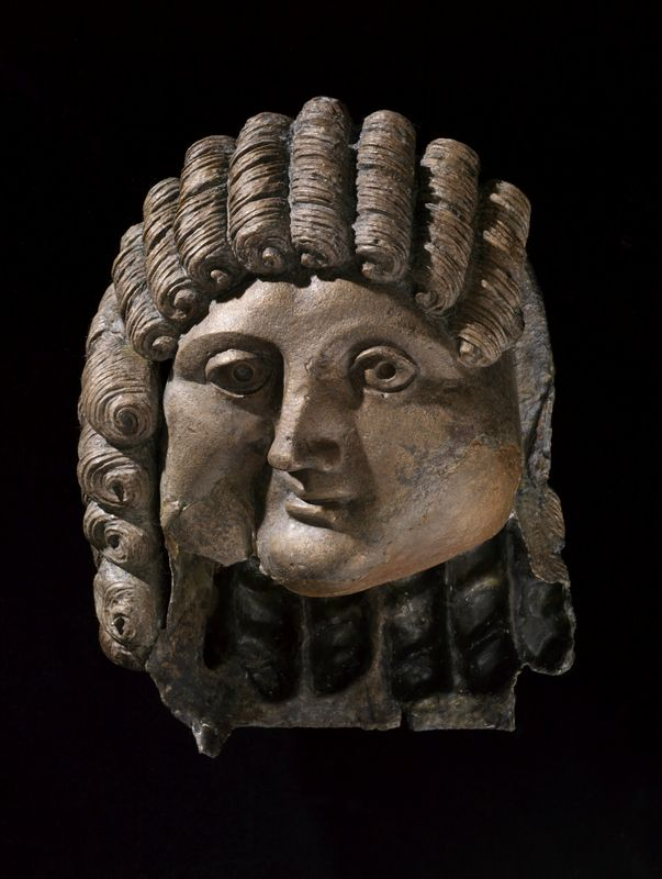 This bronze head was originally part of a life-sized statue. 1st century BCE-2nd…