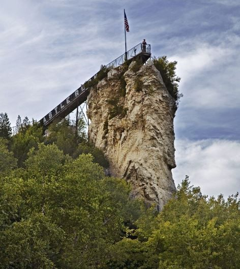 Places To Visit On Lake Michigan In Wisconsin: Castle Rock Near St. Ignace, Michigan, USA 8. Best