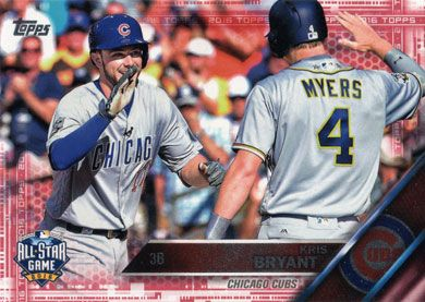 2016 Topps Update Pink Us294 Kris Bryant All Star Baseball Card