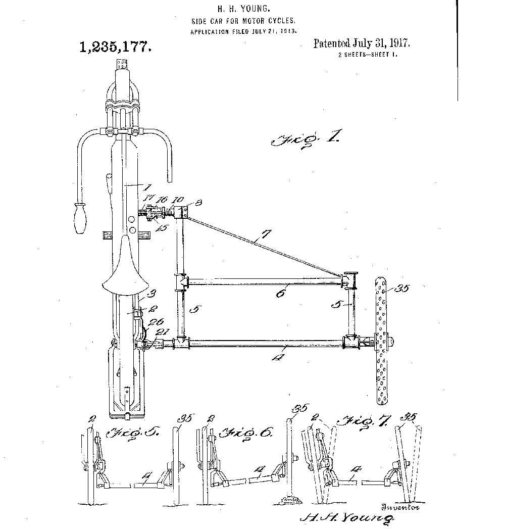 One of two patents that Young received for his innovative
