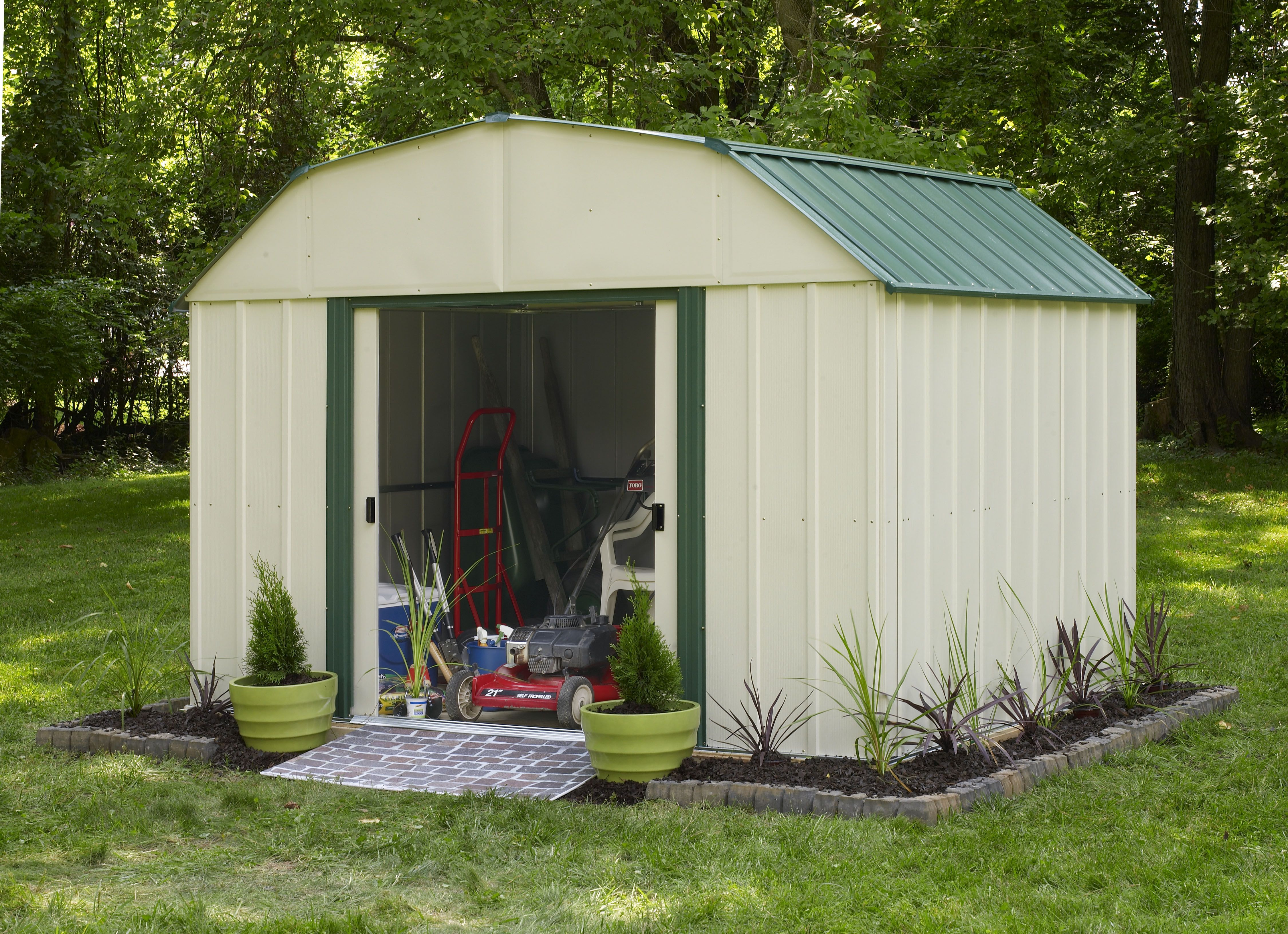 Long Lasting Steel Coated In Vinyl Gives This Garden Shed Extra Protection  From The Elements Http