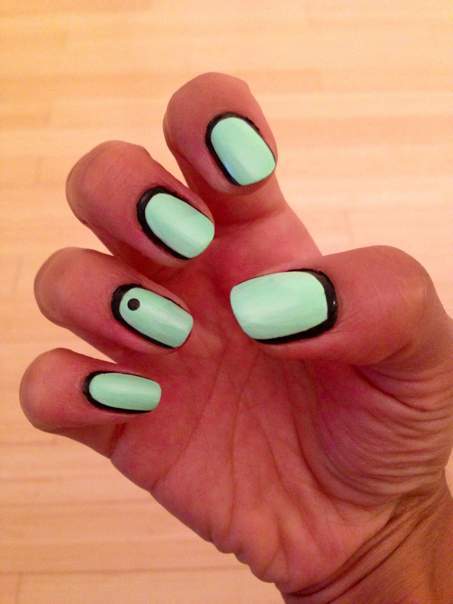 Nail Nails Design Art China Glaze Mint Tiffany Highlight Of My