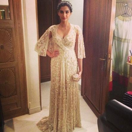 Gown At A Reception Party Over The Weekend Hosted By Neeta And Mukesh Ambani To Celebrate Wedding Of Their Niece Nayantara Kothari Shamit Bhartia