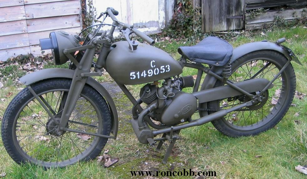 1943 James Ml Ww2 Military Motor Cycle Known As The