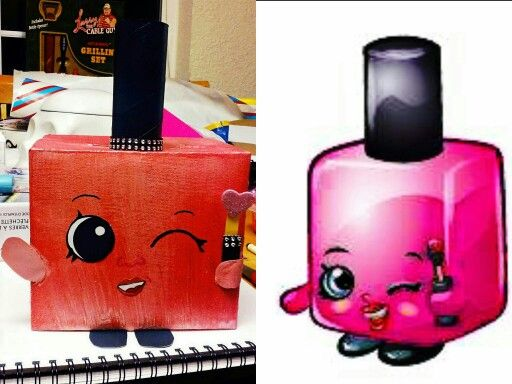 shopkin nail polish valentine box