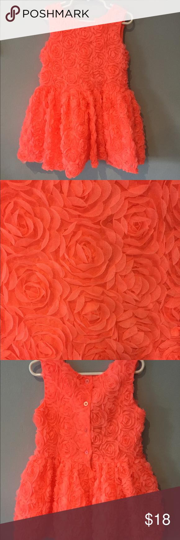 Orange dress casual  Cherokee T Gorgeous Neón Orange Girls Dress   My Posh Picks