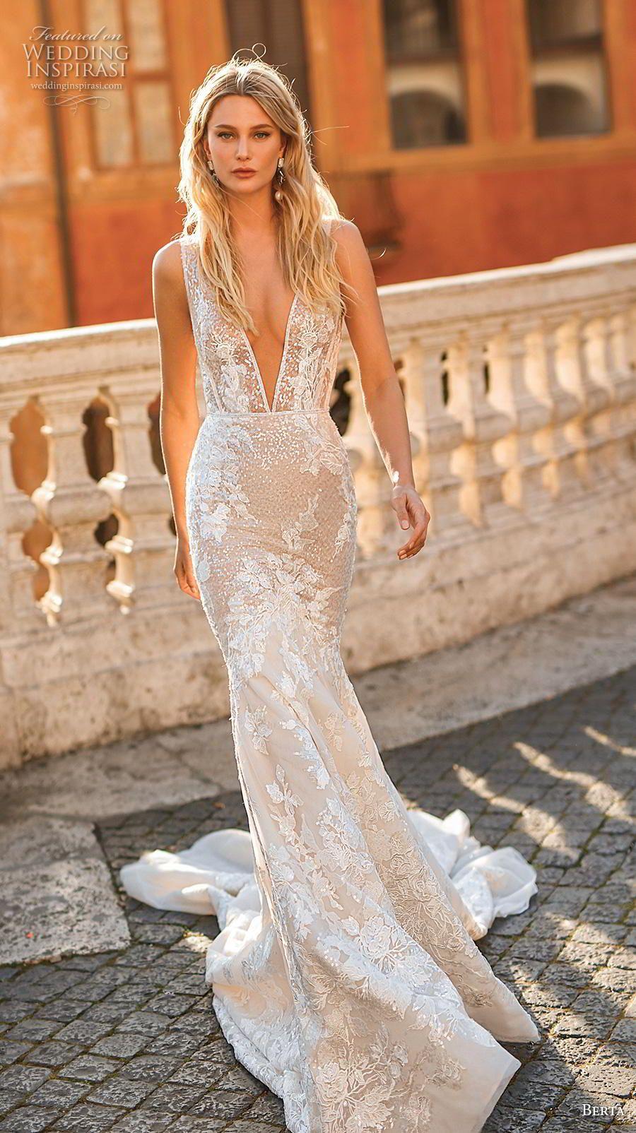 069cbb001ead Weddinginspirasi.com featuring - berta 2020 privee bridal sleeveless deep v  neck full embellishment elegant
