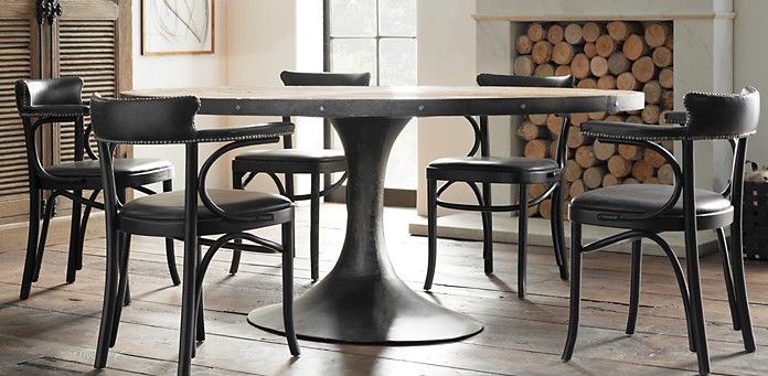 Aero Round Dining Table Restoration Hardware Logs For