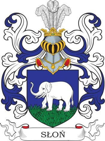 Slon Family Crest and Coat of Arms